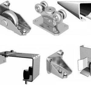 Система роликов и направляющих для откатных ворот проем до 4,3м