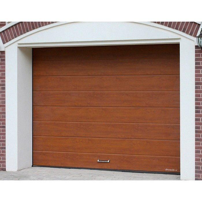 Секционные ворота на проем 3000х2215(h) золотой дуб. DoorHan RSD01SC