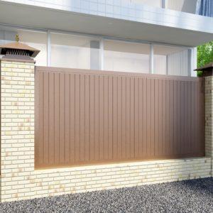 Заборная секция с алюминиевой окантовкой DoorHan с заполнением сэндвич-панелями FS-A