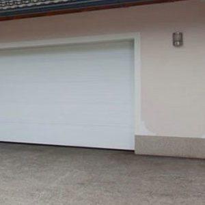 Гаражные секционные ворота Alutech Trend с пружинами растяжения размер 2500х2125мм