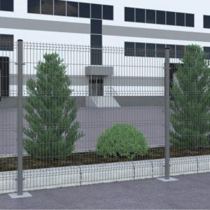 Заборные секции DoorHan из сварной сетки серии ОПТИМА