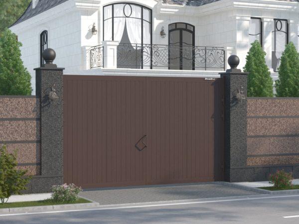 Стандартный комплект распашных ворот DoorHan, размер проема 4660х2200(h)мм.