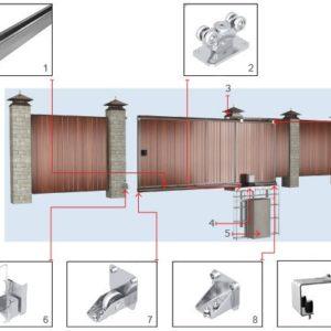 Уличные откатные ворота DoorHan 4500x2100(h)