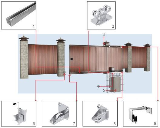 Уличные откатные ворота DoorHan 4500×2100(h)